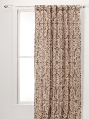50% OFF Damask Print On Linen Lined Pane (Natural)