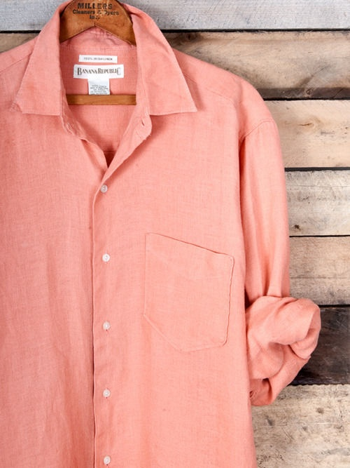 salmon button up... yes please