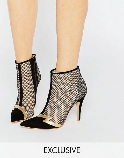 Terry de Havilland | Terry de Havilland Pixie Black Heeled Ankle Boots