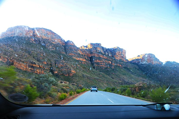 On the road, to Bushmans Kloof in the Cederberg.
