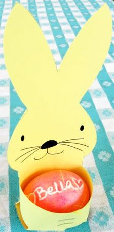 Free printables for Easter    Here's just one of the links for the egg holder PDF: http://www.skiptomylou.org/wp-content/uploads/2009/03/bunnyeggholder09.pdf