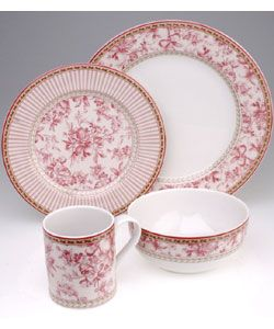 Royal Doulton Provence Rouge 16-pc. Dinnerware Set | Overstock.com Shopping -  sc 1 st  Pinterest & 9 best Toile Dinnerware images on Pinterest | Dish sets Canvases ...