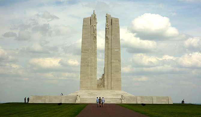 The Canadian National Vimy Memorial is a memorial site in France dedicated to the memory of Canadian Expeditionary Force members killed during the First World W... Get more information about the Canadian National Vimy Memorial on Hostelman.com #attraction #France #memorial #travel #destinations #tips #packing #ideas #budget #trips