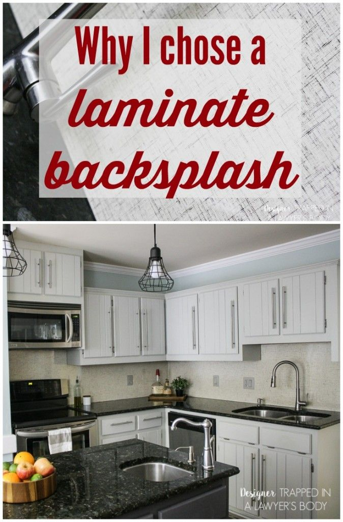 GENIUS backsplash solution!  This gorgeous Formica® Laminate backsplash is from the incredibly chic Jonathan Adler collection and looks absolutely stunning.  Plus, it's so easy to clean.  #homechichome #spon