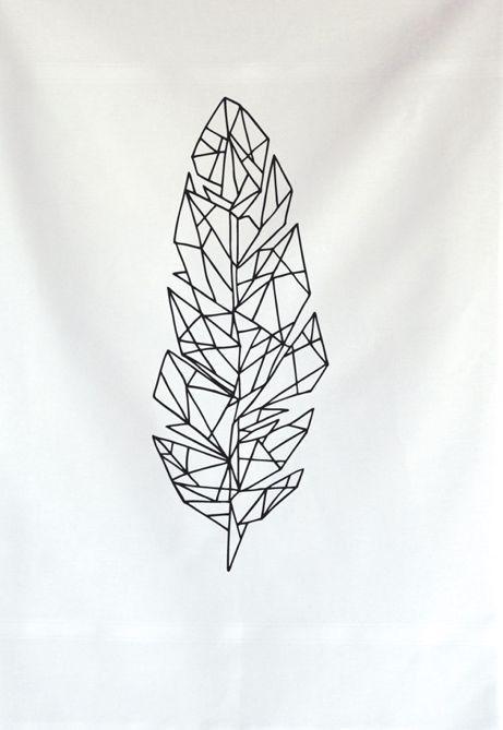 Geometric feather | Tattoos I Love | Pinterest