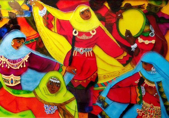 Витражная картина Танец от Stainedglasss500 на Etsy