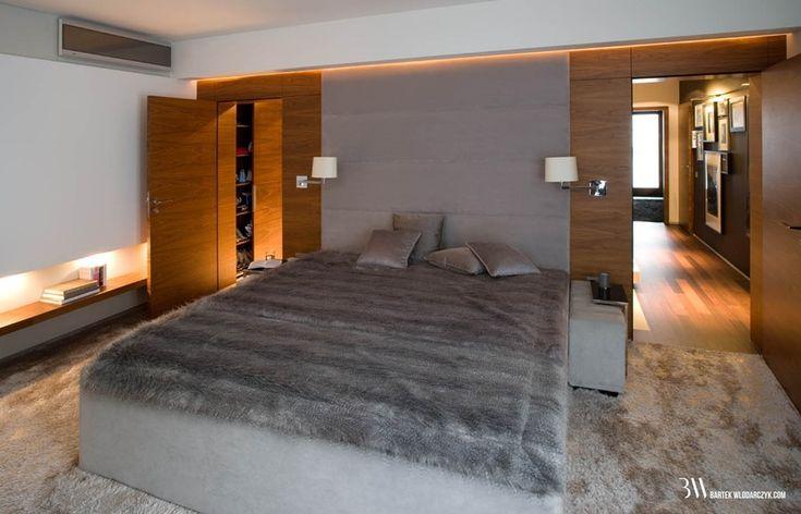 Przytulna sypialnia ciepłe oświetlenie