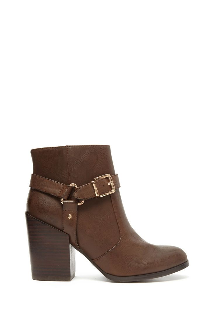 Buckled Faux Leather Boots | Forever 21 - 2000157259