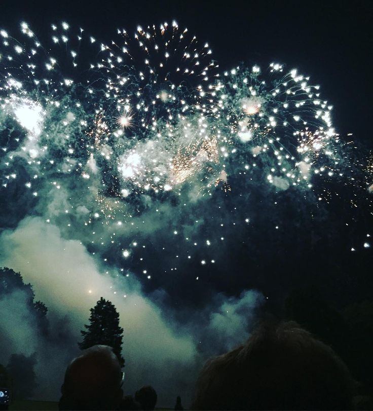 Fireworks at Melbourne Hall Derbyshire, posted by Amber Guinness
