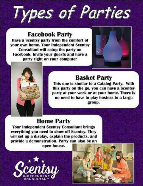 Earn Free Products by having a Scentsy party. www.pennystone.scentsy.us or contact me on facebook penny stone