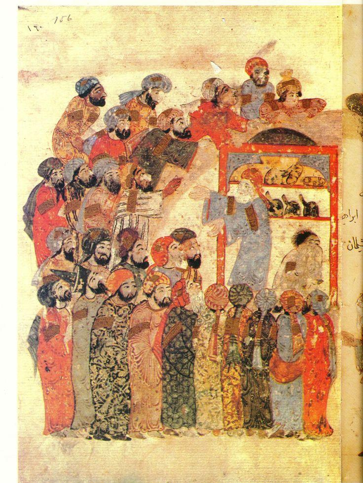 Yahya ibn Mahmud alWasiti, was a 13th-century Arab Islamic artist .AlWasiti was born in Wasit واسط southern Iraq .He was noted for his illustrations of the Maqamat of alHariri
