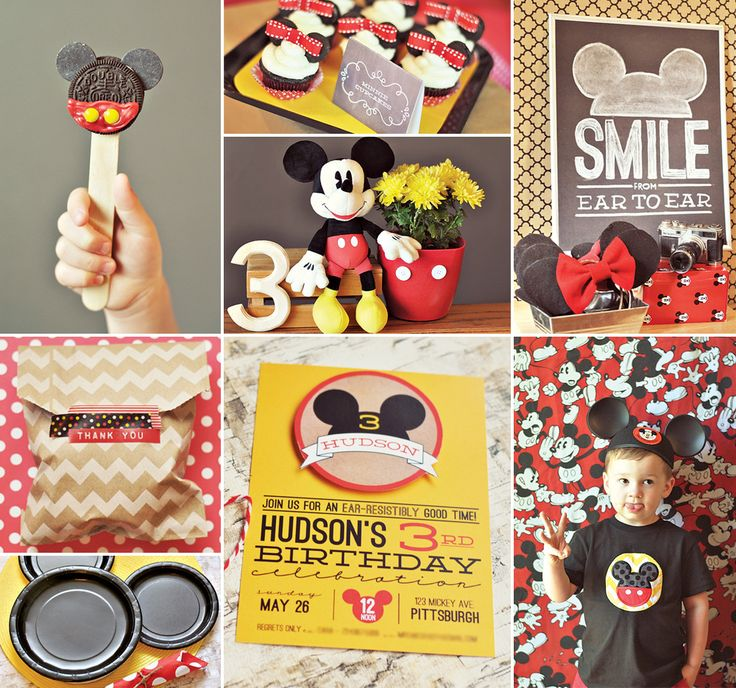 """Inspired by the original 1950′s Mickey Mouse Club, Hudon's Classic & Crafty Mickey Mouse Birthday Party by mommy Cara McGrady of One Swell Studio looks like it was an """"EAR- resistibly good time!"""" http://hwtm.me/113FGBB #Mickey   #mickeymouse   #birthdayparty"""