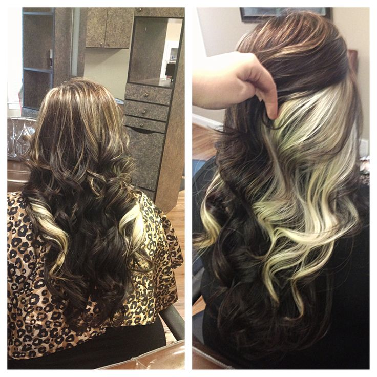 Peek A Boo Highlights Straight Hair Google Search My Style