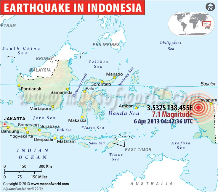 Earthquake in papua, Indonesia, 06 April, 2013
