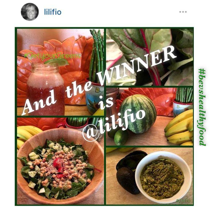 """Eat Your Greens Challenge""  WINNER!  CONGRATULATIONS @lilifio  WINNER of the 7 Day ""Eat Your Greens Challenge"" 25 April 2016"