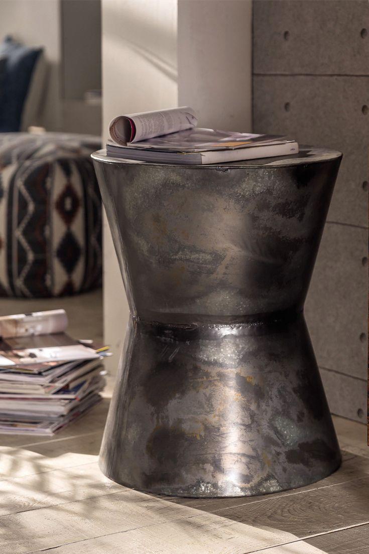 Thorin Von Pure Natur Beistelltisch Aus Eisen Antik