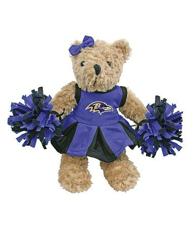 Take a look at this Baltimore Ravens Cheerleader Bear Plush Toy by Hunter on #zulily today!