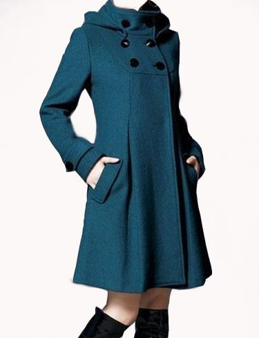 Ein edler Mantel in Petrol von Fashion - Trend auf DaWanda.com