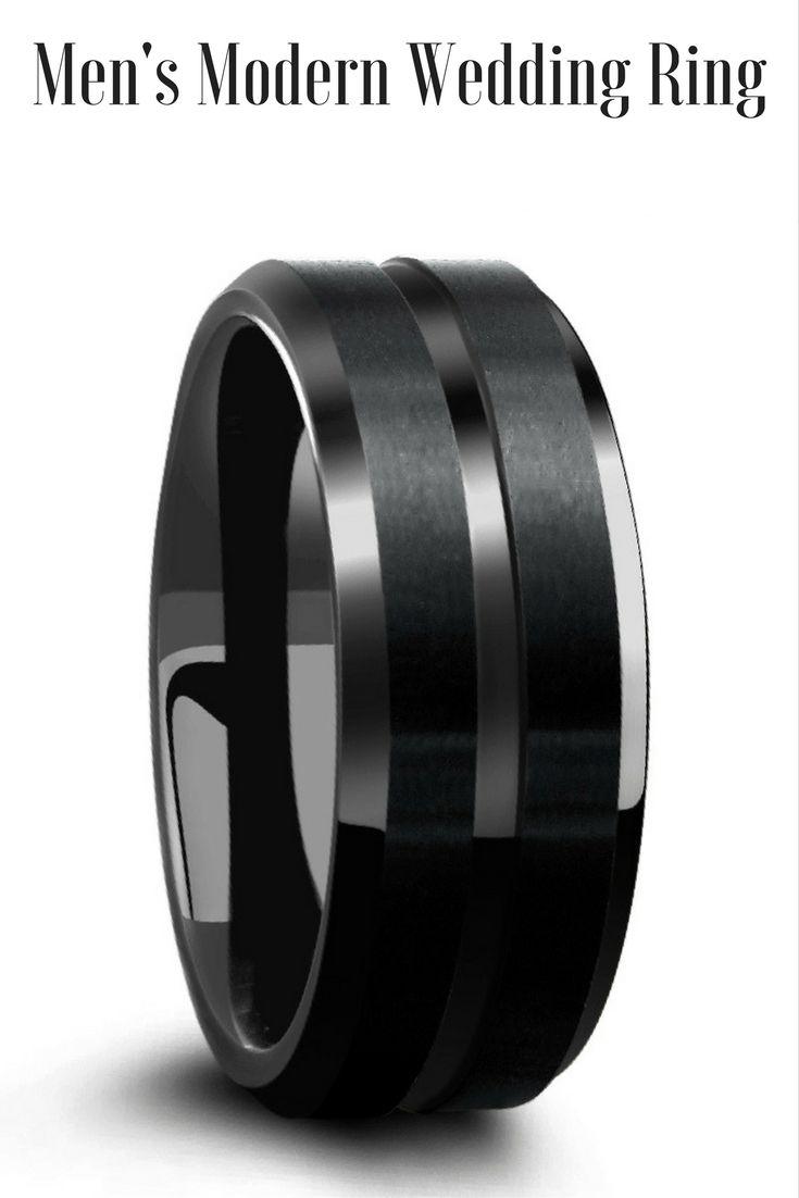 19 best Black Wedding Rings images on Pinterest Black weddings
