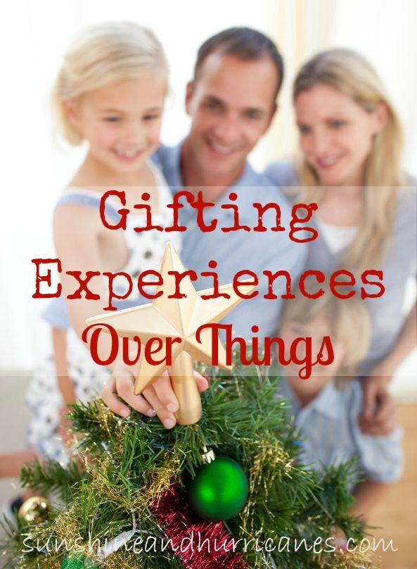 Are you tired of quickly discarded toys and gifts no one plays with after Christmas morning? This year, we've got some fabulous ideas that'll last a lifetime instead of clutter your home! Our Gifting Experiences Over Things will give you simple & easy ways to bring joy to everyone on your list whether it's a birthday, Christmas, or other holiday.  sunshineandhurricanes.com