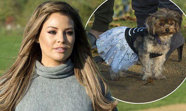 TOWIE's Jessica Wright dresses her pet pooch Bella in a tutu