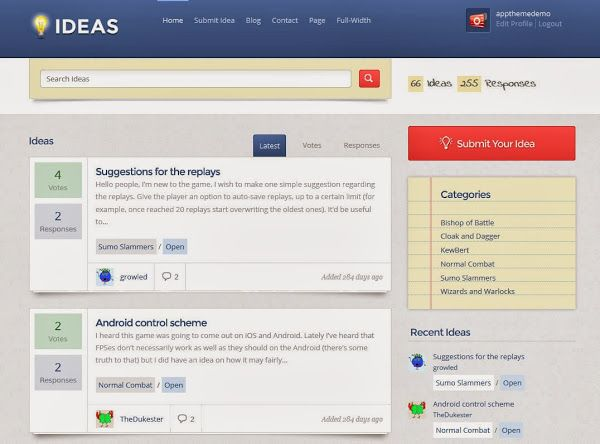 Ideas App Wordpress Themes | ThemeSpira