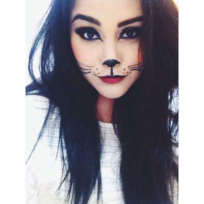 cat makeup... Cat halloween costume?