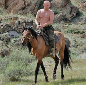Obama bike vs Putin Horse | LOL Politics!!! Putin VS Obama OR Macho Man vs. Sissy-Boy | Fun News