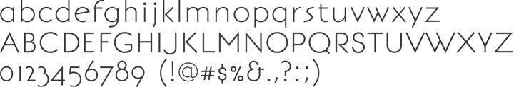 BonvenoCF Alphabet Specimen