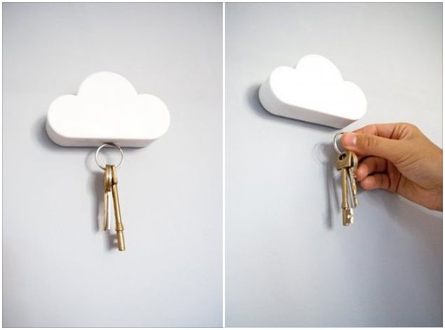 White Cloud Shape Magnetic Magnets Key Holder - Google Search