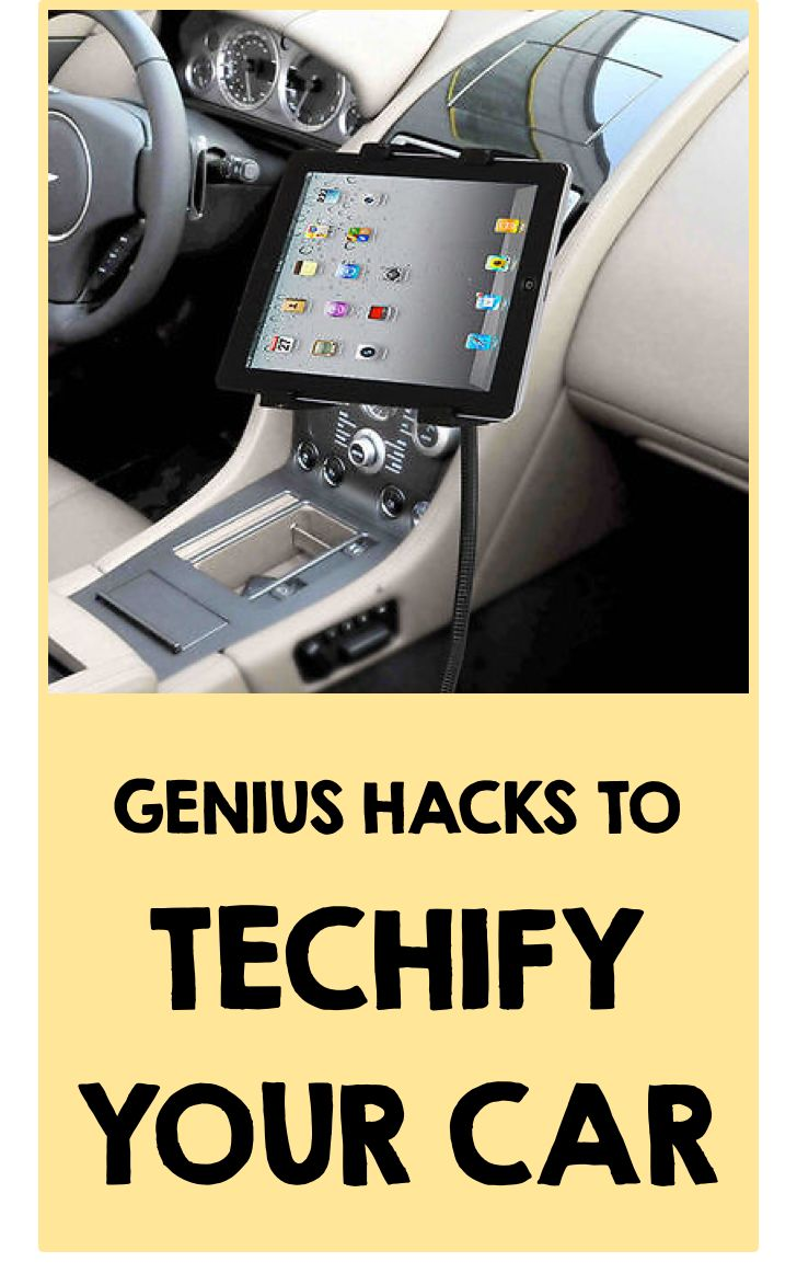 Believe it or not, there's a robust DIY culture around car technology! It can cost an arm and a leg to purchase these features built into the car, but what if you could mimic the same experience yourself for much less? If you want navigation set up in your car, use a gooseneck tablet mount installed between the seats. If you have an older car with an ashtray in the center console, pop out that ashtray and replace it with a smartphone dock! Visit eBay for more genius DIY car tech hacks.