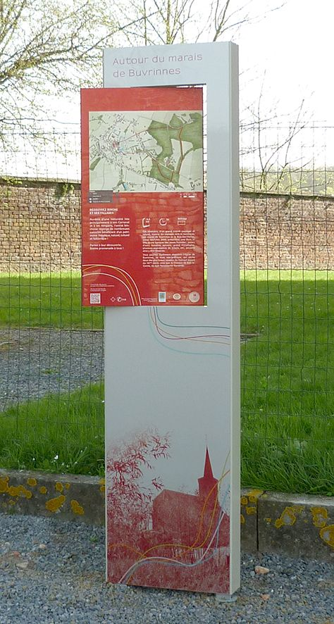 Panneau de randonnée créé par TRACES TPi pour la Ville de Binche - design et graphisme ©TRACES TPi