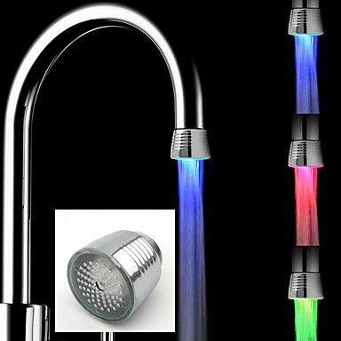 Rubinetto della cucina Contemporaneo LED Plastica ABS grado A Cromo spazzolato
