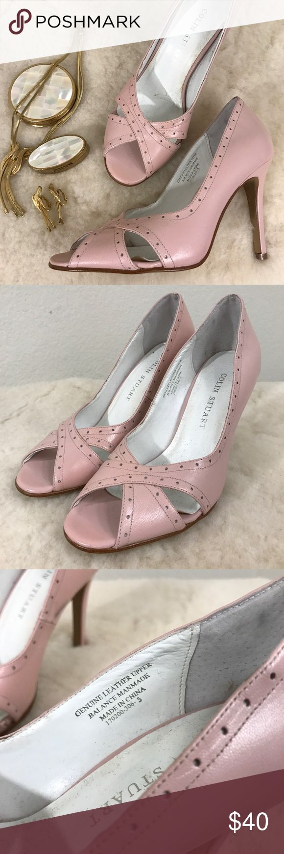 COLIN STUART BLUSH PUMP SHOES Leather SZ 5 COLIN STUART VICTORIA SECRET BLUSH PUMP SHOES Leather SZ 5   Please see photos as we do consider them to be a part of the description.   THIS IS SHOES ONLY Colin Stuart Shoes Heels