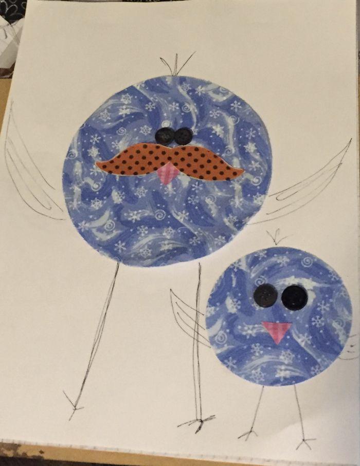 Chubby Critters Quilt...bird