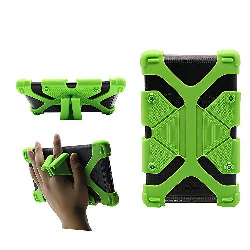 Shockproof Tablet Case CHINFAI Scalable Tablet Case with Stand Function 7''-8'' Silicone Universal Tablet Case for Samsung Galaxy Tab 4/ Amazon Fire Tablet/ Google Nexus 7 for Kids-Green