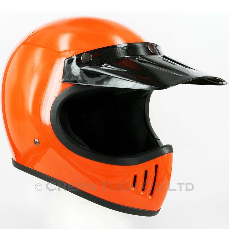 80s Moto 3 Style Off Road Motocross Full Face Helmet