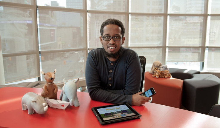 Robleh Jama of Tiny Hearts creates playful iPhone and iPad apps for the young and young-at-heart.