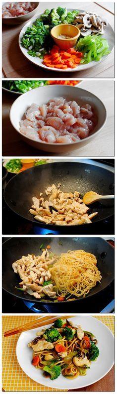 Easy Chicken Lo Mein