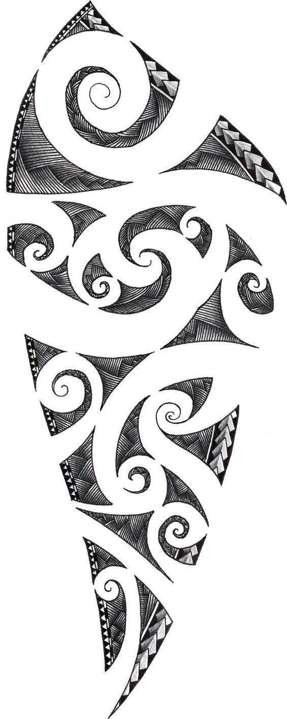 Maori Tattoo Design by ZakonKrancaSwiata