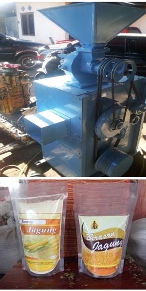 Mesin pemberas jagung dan produk yang dihasilkan