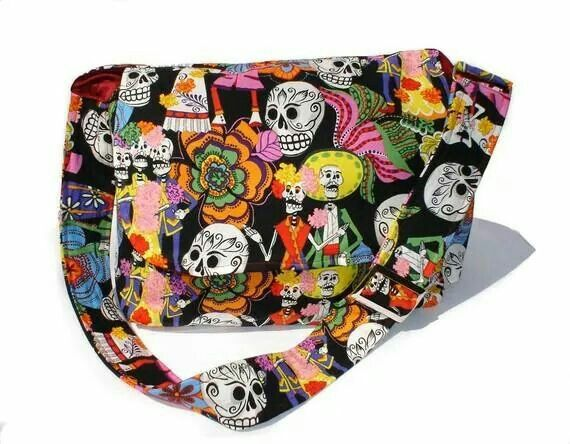 Day of the Dead Catrinas and Catrinos Messenger Bag - Plus Size - Curvy Fashion - Bold - Unique - Renegade
