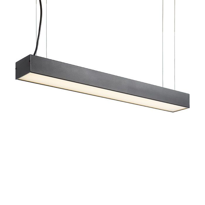 BERLINO | rendl light studio | Linear pendant with LED technology. The shade is of frosted polycarbonate. #office #lighting #pendant #LED