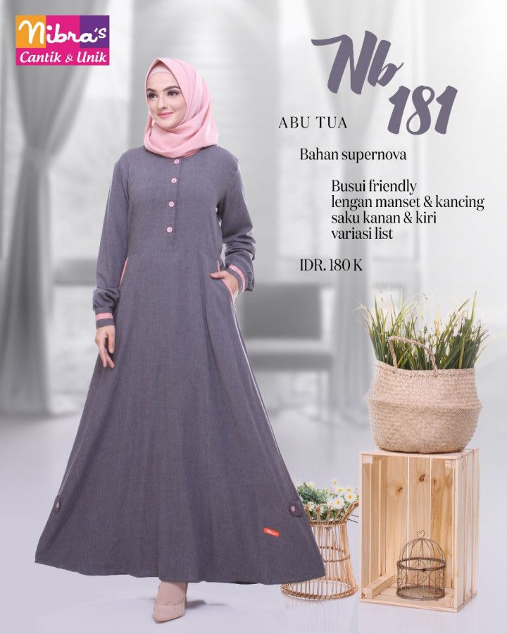 Model Variasi Lengan Baju Gamis Gambar Hijab