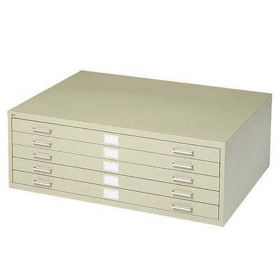 Safco Products Five-Drawer Flat File Filing Cabinet Finish: Tropic Sand
