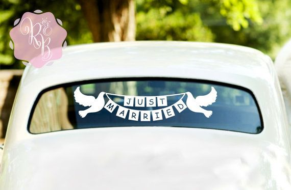 Check out this item in my Etsy shop https://www.etsy.com/uk/listing/268450605/just-married-doves-bunting-banner