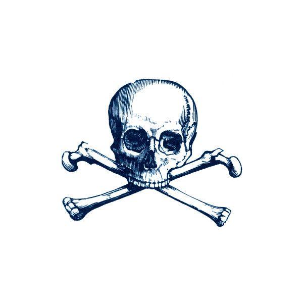 Skull and cross bones temp tattoo