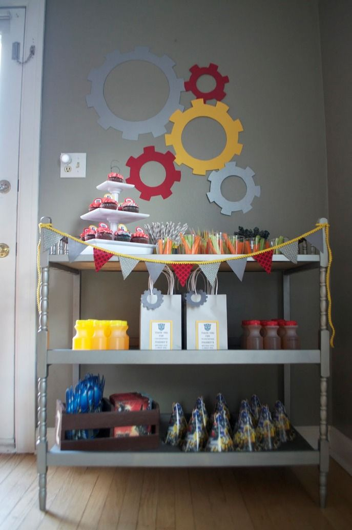 Image of: Transformer Birthday Party Food Ideas