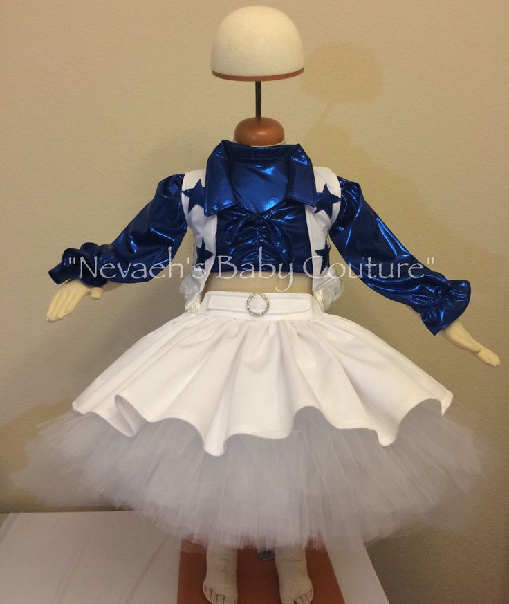 Dallas Cowboys Cheerleader Costume Child Size by Nevaehsbabycouture on Etsy https://www.etsy.com/listing/252459548/dallas-cowboys-cheerleader-costume-child