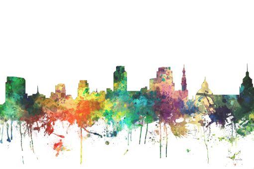 Sacramento California Skyline - Prints from $58.00